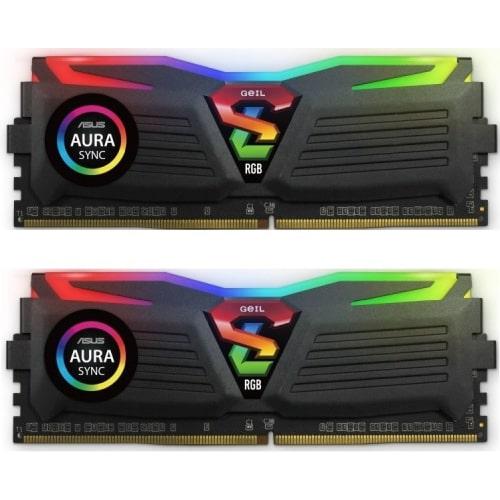 رم کامپیوتر دو کاناله Geil Super Luce RGB DDR4 3200MHz ظرفیت 16GB (2x8GB)