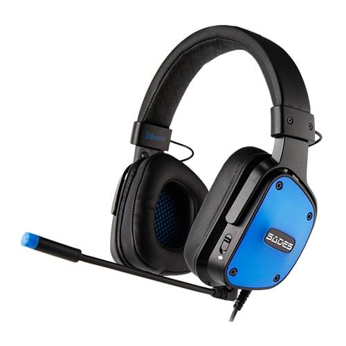 هدست بازی سدس مدل Sades DPOWER Blue