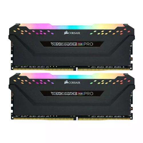 رم کامپیوتر Corsair Vengeance RGB PRO Black DDR4 3200MHz ظرفیت 32GB (2x16GB)