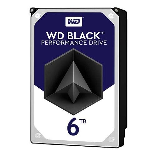 هارد دیسک اینترنال وسترن دیجیتال مشکی ظرفیت 6 ترابایت