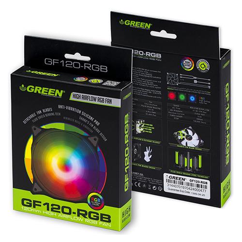 فن کیس گرین مدل Green GF120-RGB 2100RPM 120mm